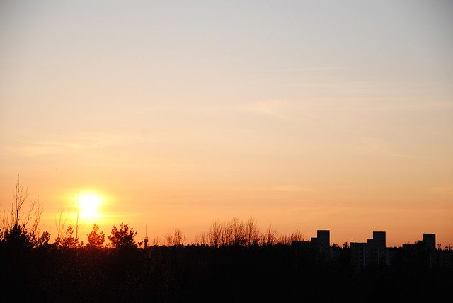 Sunset over Pasila
