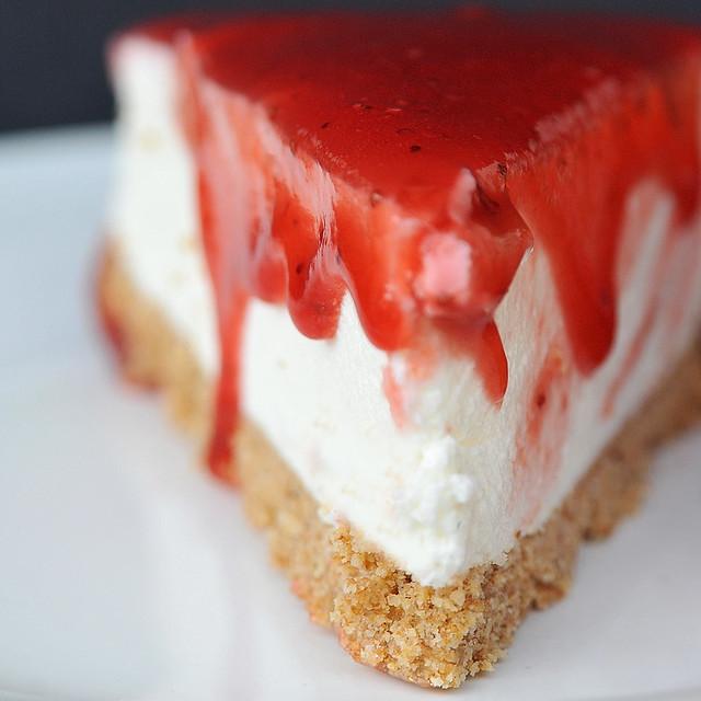cheesecake de morangos