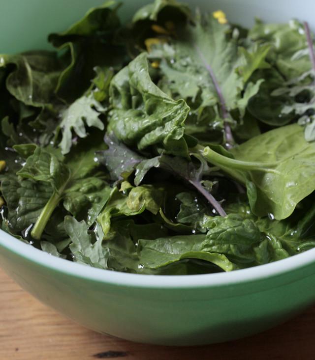 greens, bowl
