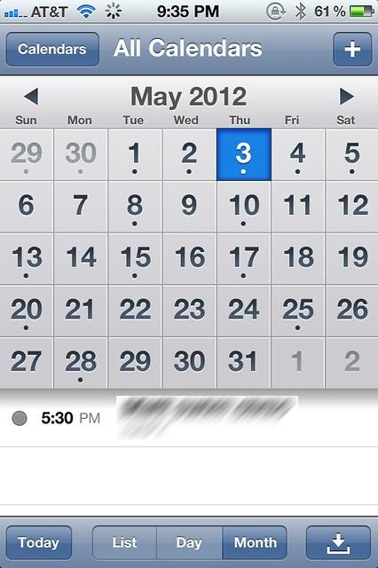 Calendar syncing