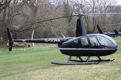 G-OONA - 2005 build Robinson R44 Clipper II, at the 2012 Cheltenham Festival