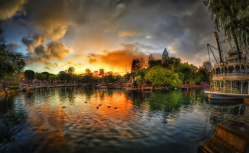 Sunset On The Rivers Of America (Explored at #2 on 3/26/12)