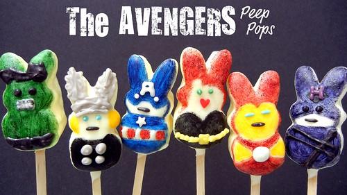 Avengers Peep Pops