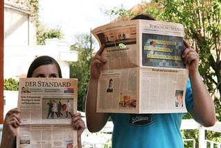 Jenni & Clemens von annenpost-at beim Newspapering