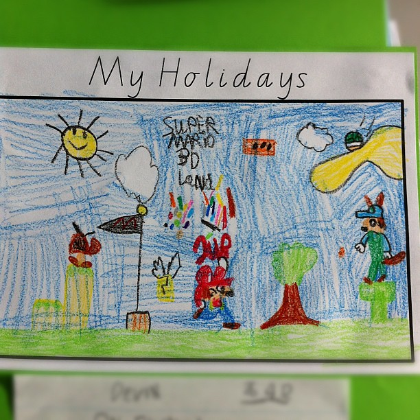 Awesome drawing by a 6 year old! | Explore lu_lu's photos ...