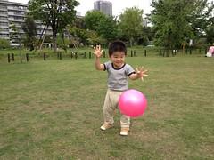 中目黒公園で遊ぶよ^^ (2012/4/30)