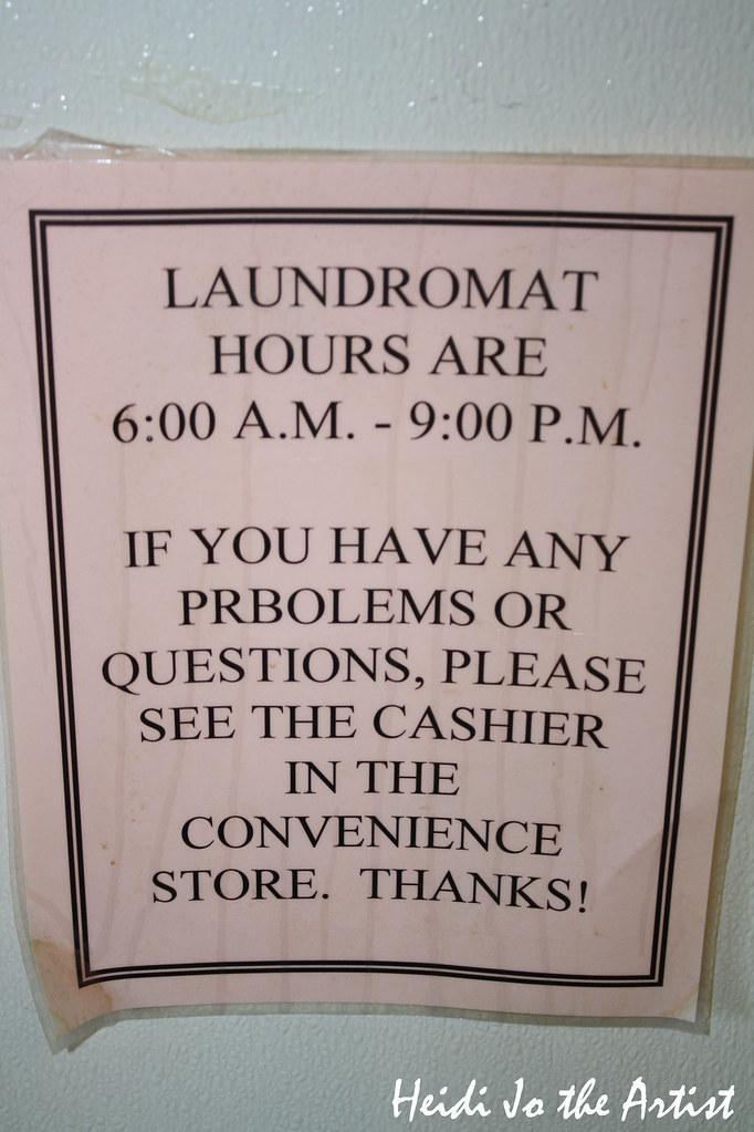 Laundromat Typo