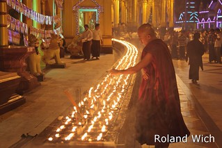Yangon - Candle Offering