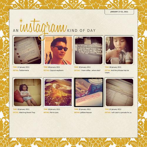 Instagram Album Page Example