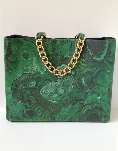 Malachite + Gold Shoulder Bag 38