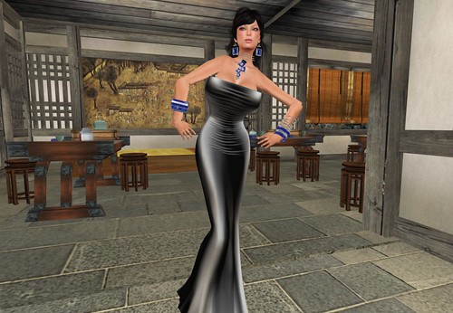 House of Beningborough ~ BB Adorn Me - Opal leaves Mesh Dress -simple- (only for members) by Cherokeeh Asteria