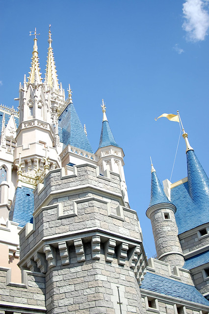 Cinderella's Castle from below.