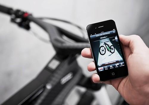 Для управления Audi e-bike Wörthersee можно использовать смартфон