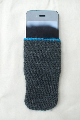 iPhone sock with iPhone