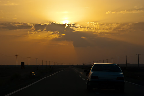 road sunset car جاده غروب اتومبیل