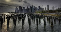 Downtown Manhattan  pylons