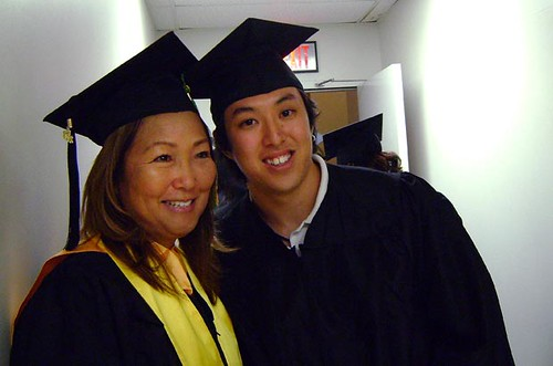 "<p>Kaua'i Community College's Debbie Ponce and Ruben ""Yoshi"" Nonaka at the campus' commencement ceremony on May 11.</p>"