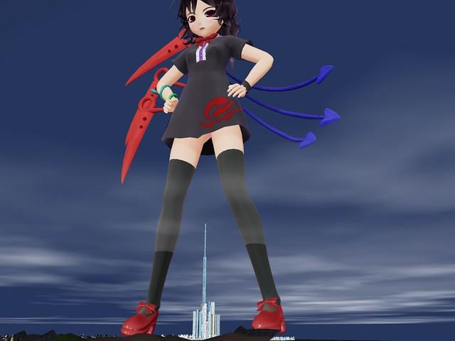 MMD Giantess Anime Girls
