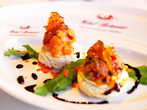 Salmon appetiser at La Parrilla , Hotel Botanico, Puerto de la Cruz