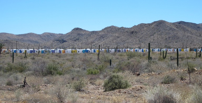 Housing outside of Mulege, Highway 1