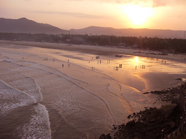 sun rise from the balcony of my room at RNS Residency, Murudeshwar