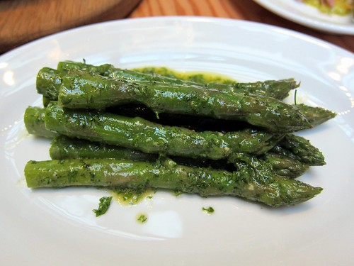 Suffolk Crown asparagus with chervil dressing