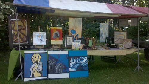 Komt dat zien! De stand van #atelierkameleon vandaag op de kunstmarkt in st. Michielsgestel, je bent welkom!