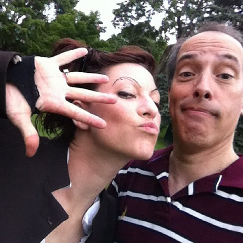 With @amandapalmer at Lexington Battle Green