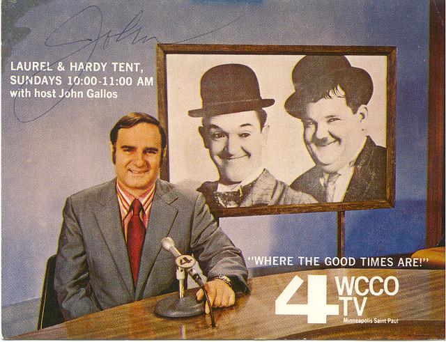 Laurel & Hardy Tent, WCCO-TV, 1971