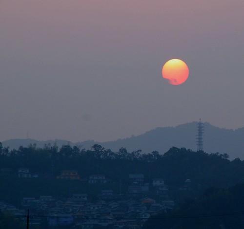 city sunset japan fog island smog poorvisibility evenig iwukuni mygearandme mygearandmepremium