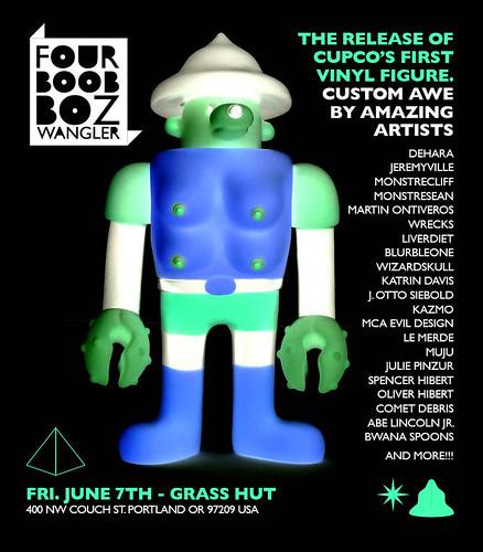 Cupco's first vinyl figure: Four Boob Boz Wanger