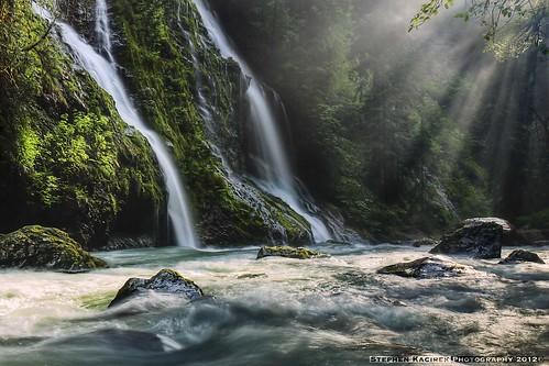 river waterfall washington rapids pacificnorthwest northcascades lightshafts boulderriver featureshowfalls rainforestink
