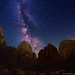 "Starry Canopy over Big Bend, Zion Canyon by IronRodArt - Royce Bair (""Star Shooter"")"