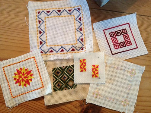 Cross stitch samples