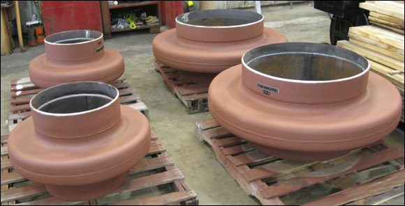 Custom Thick Wall Flanged and Flued Head Expansion Joints for Heat Exchangers in California