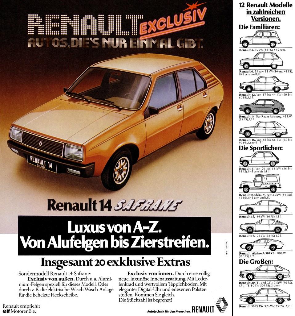 Renault 14 (1978) Safrane Sondermodell
