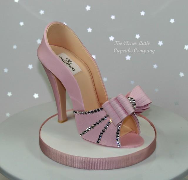 pink sugar shoe cake topper flickr photo