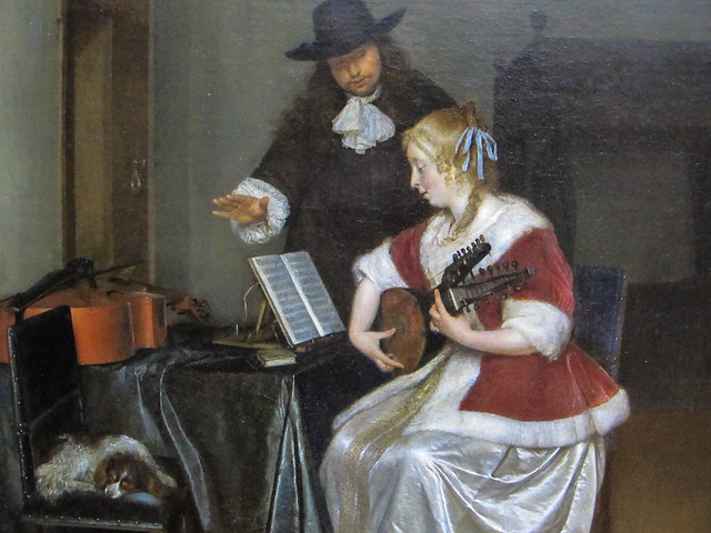 The Music Lesson, Gerard ter Borch, 1668