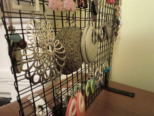 Make your own an industrial jewelry stand for 10 for Make your own jewelry rack