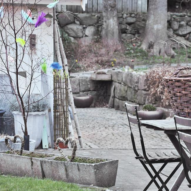 vår i trädgården