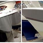 Förra veckan tejpade vi många bilar. Denna vecka varierar vi oss lite och strajpar båt istället. :)