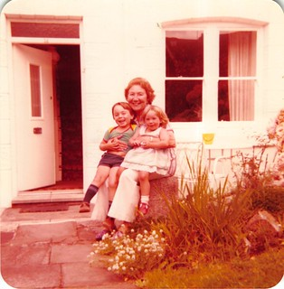 Ben, Rebecca and Grandma in Porthcawl 1980