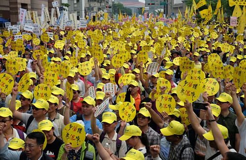 TAIWAN-LABOUR-DEMO