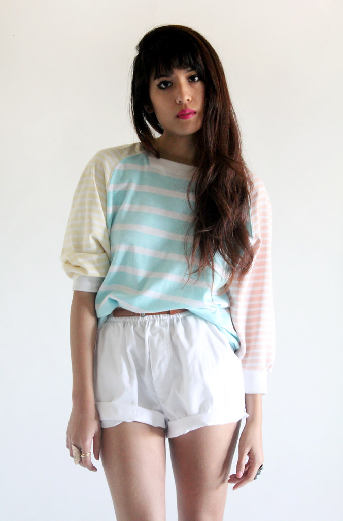 Tarte Vintage Pastel Stripes Raglan Sweater (available on shoptarte.com)