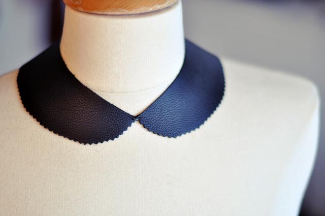leather peter pan collar necklace DIY