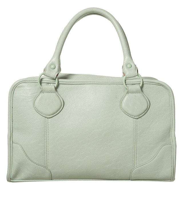 topshop mint green satchel bag