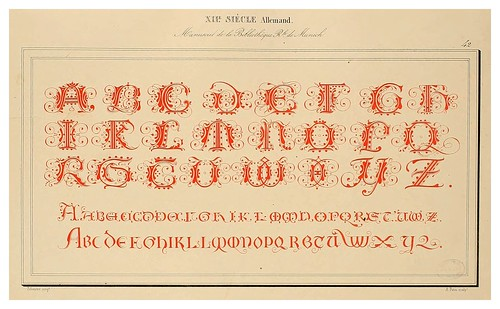 008-Alphabet-Album collection de soixante feuilles d'alphabets historiés 1843- Joseph-Balthazar Silvestre