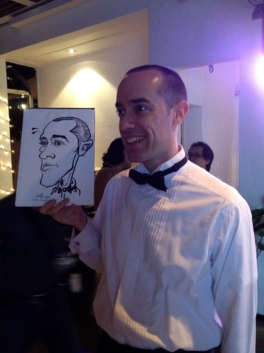 Caricature live sketching for Diageo Singapore Pte Ltd - 1