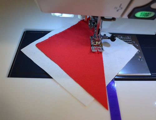 Sewing the Shoo Fly arms