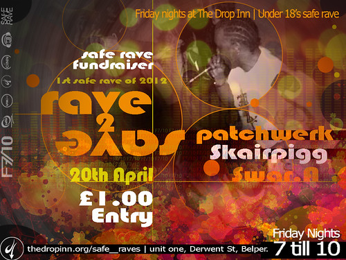 Rave2Save 'Safe Rave' Flyer by thedropinn